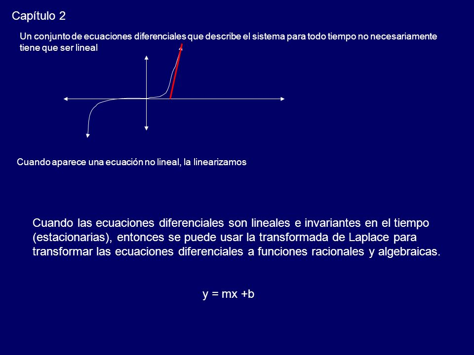 Capítulo 2 Un conjunto de ecuaciones diferenciales que describe el sistema para todo tiempo no necesariamente.