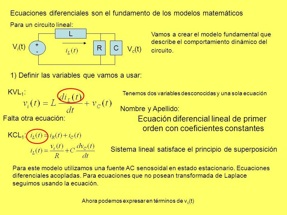 Ecuación diferencial lineal de primer