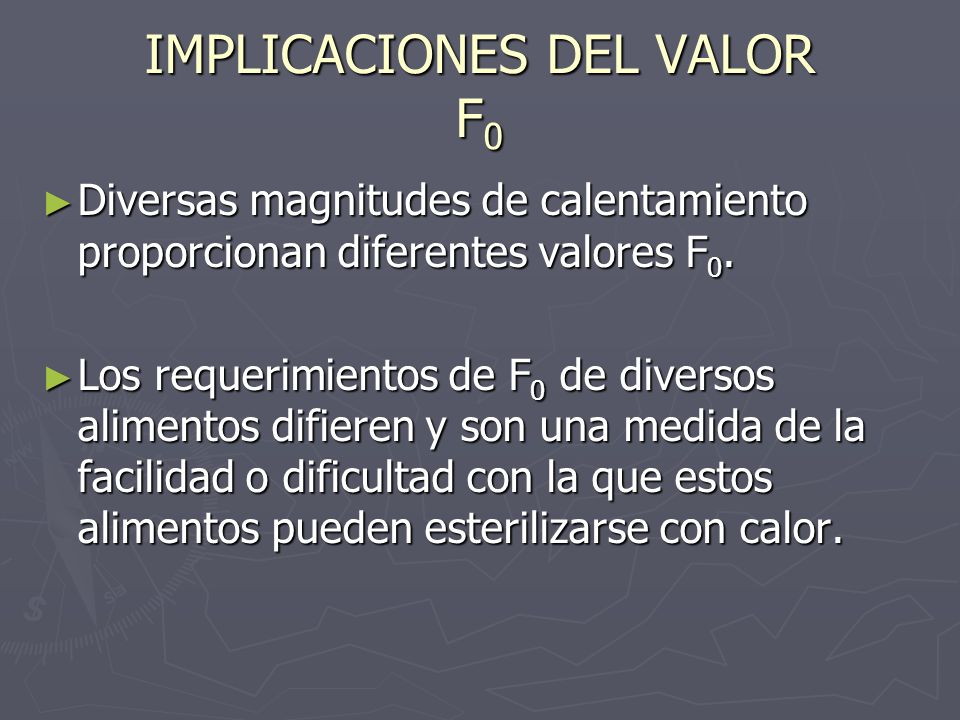 IMPLICACIONES DEL VALOR F0