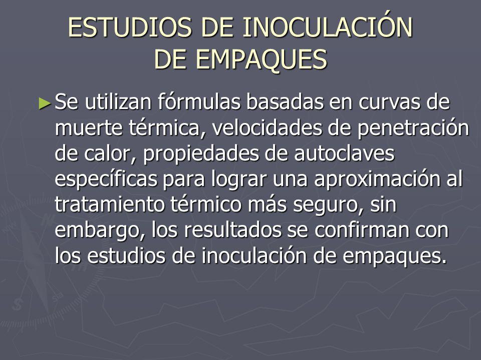 ESTUDIOS DE INOCULACIÓN DE EMPAQUES