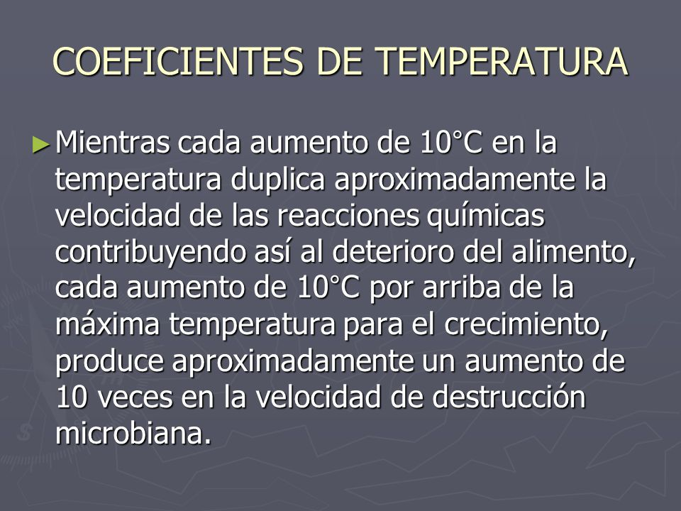 COEFICIENTES DE TEMPERATURA