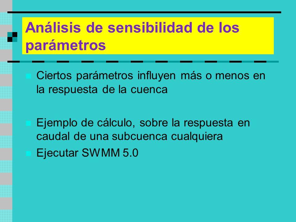 Análisis de sensibilidad de los parámetros