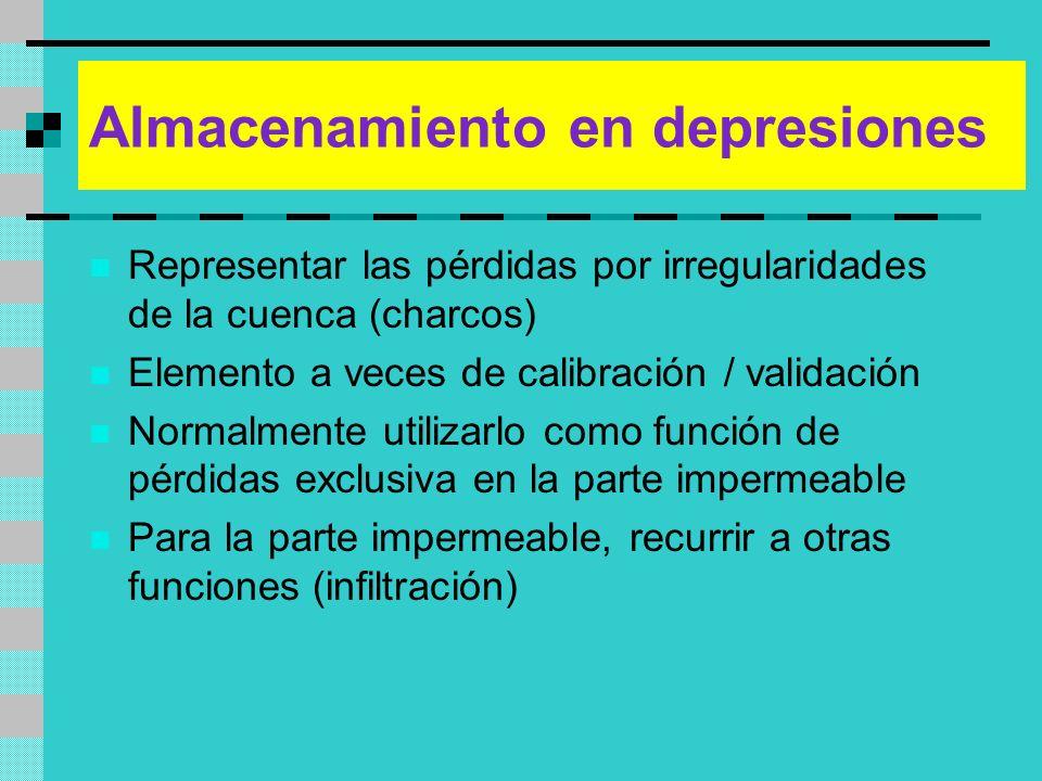 Almacenamiento en depresiones