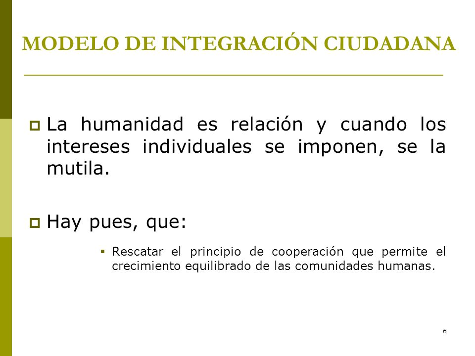 MODELO DE INTEGRACIÓN CIUDADANA