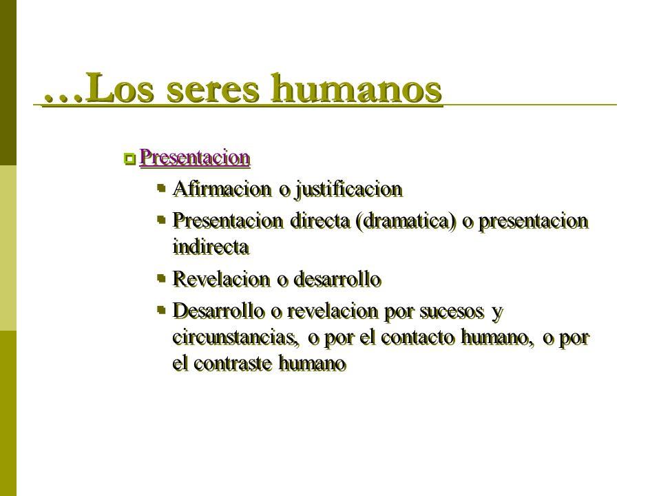 …Los seres humanos Presentacion Afirmacion o justificacion