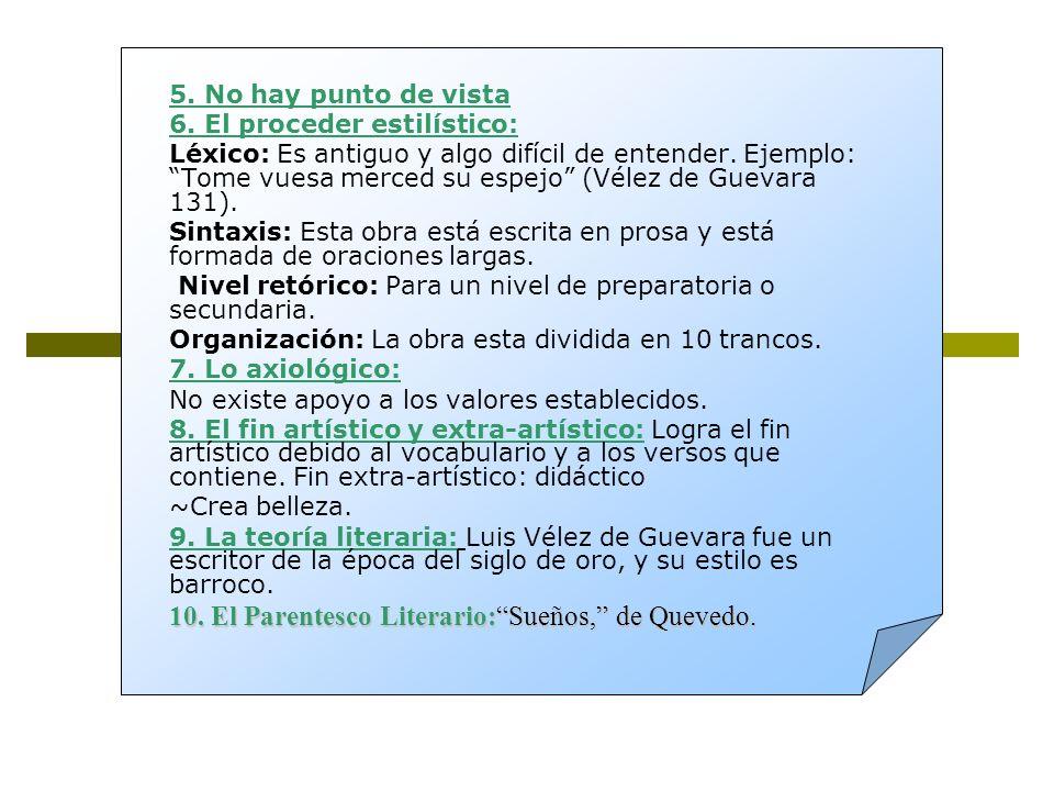 10. El Parentesco Literario: Sueños, de Quevedo.