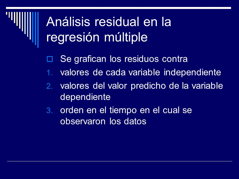 Análisis residual en la regresión múltiple