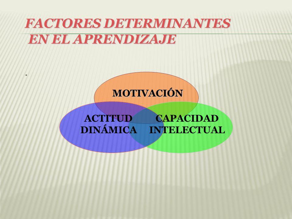 FACTORES DETERMINANTES EN EL APRENDIZAJE