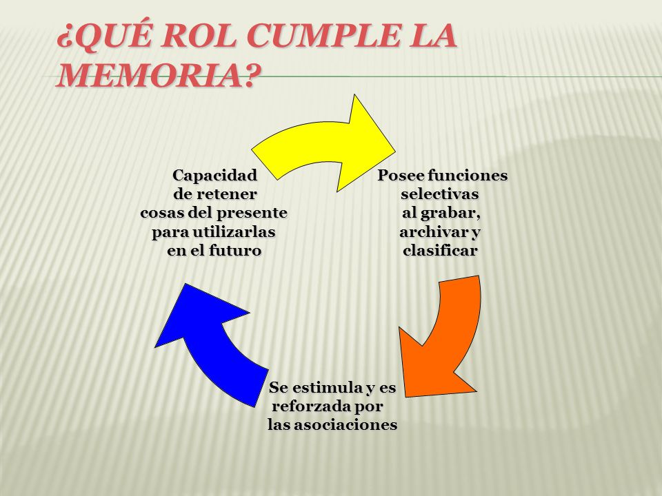 ¿QUÉ ROL CUMPLE LA MEMORIA