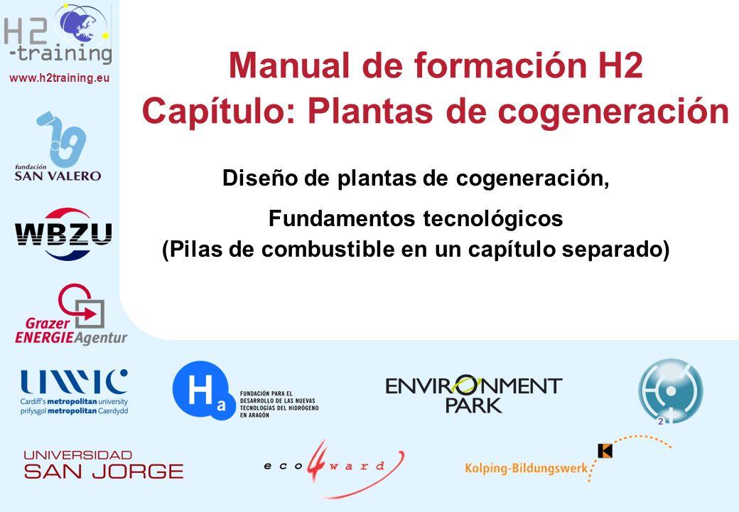 Manual de formación H2 Capítulo: Plantas de cogeneración