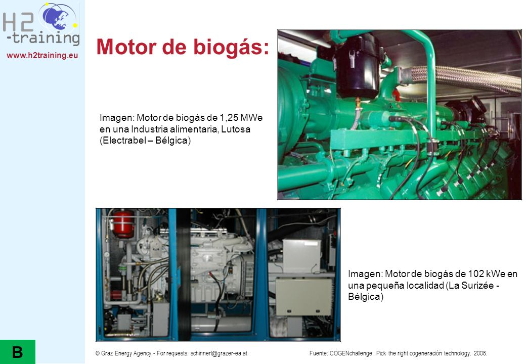 Motor de biogás: imágenes
