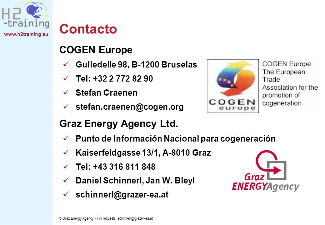 Contacto COGEN Europe Graz Energy Agency Ltd.