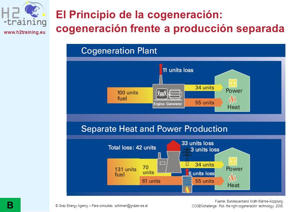 El Principio de la cogeneración: cogeneración frente a producción separada