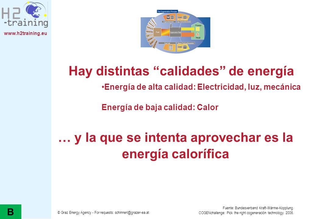 Hay distintas calidades de energía