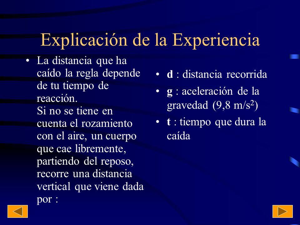 Explicación de la Experiencia