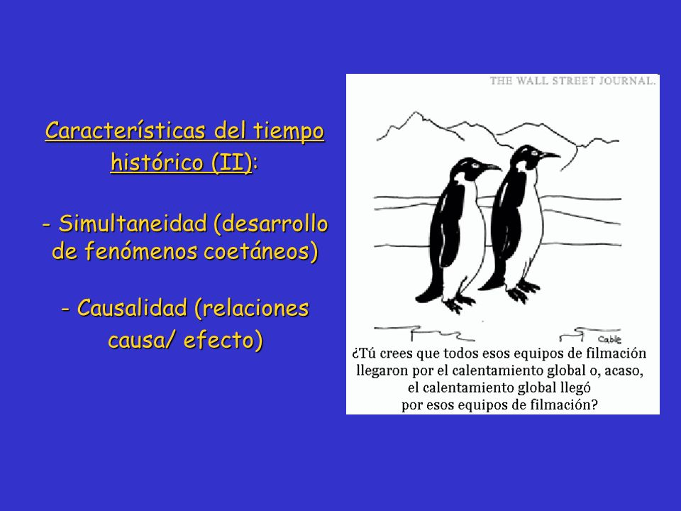 Características del tiempo histórico (II):