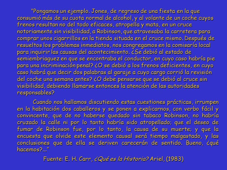 Fuente: E. H. Carr, ¿Qué es la Historia Ariel, (1983)