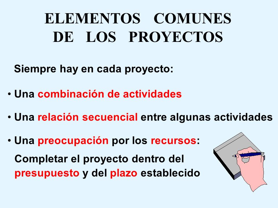 ELEMENTOS COMUNES DE LOS PROYECTOS