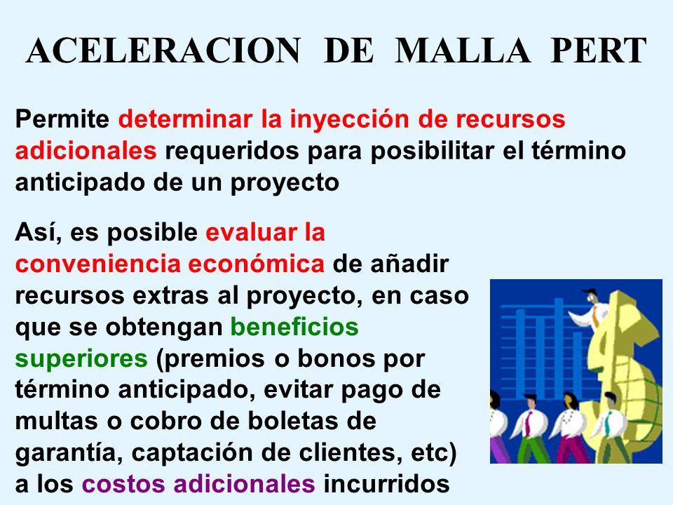 ACELERACION DE MALLA PERT
