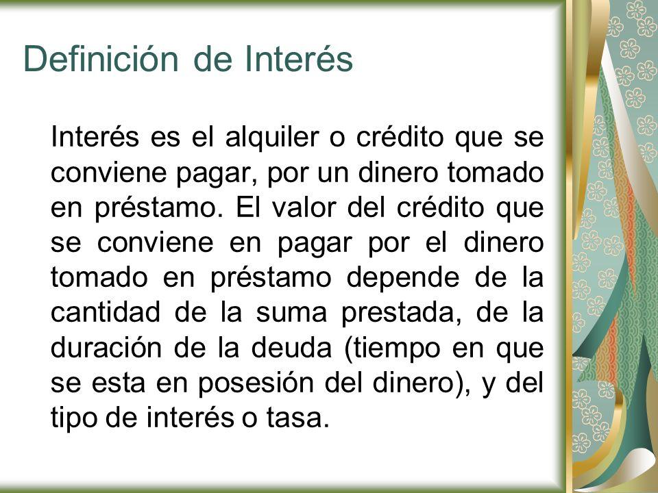 Definición de Interés
