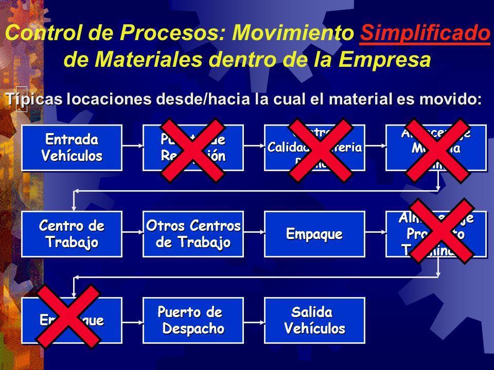 Control de Procesos: Movimiento Simplificado de Materiales dentro de la Empresa