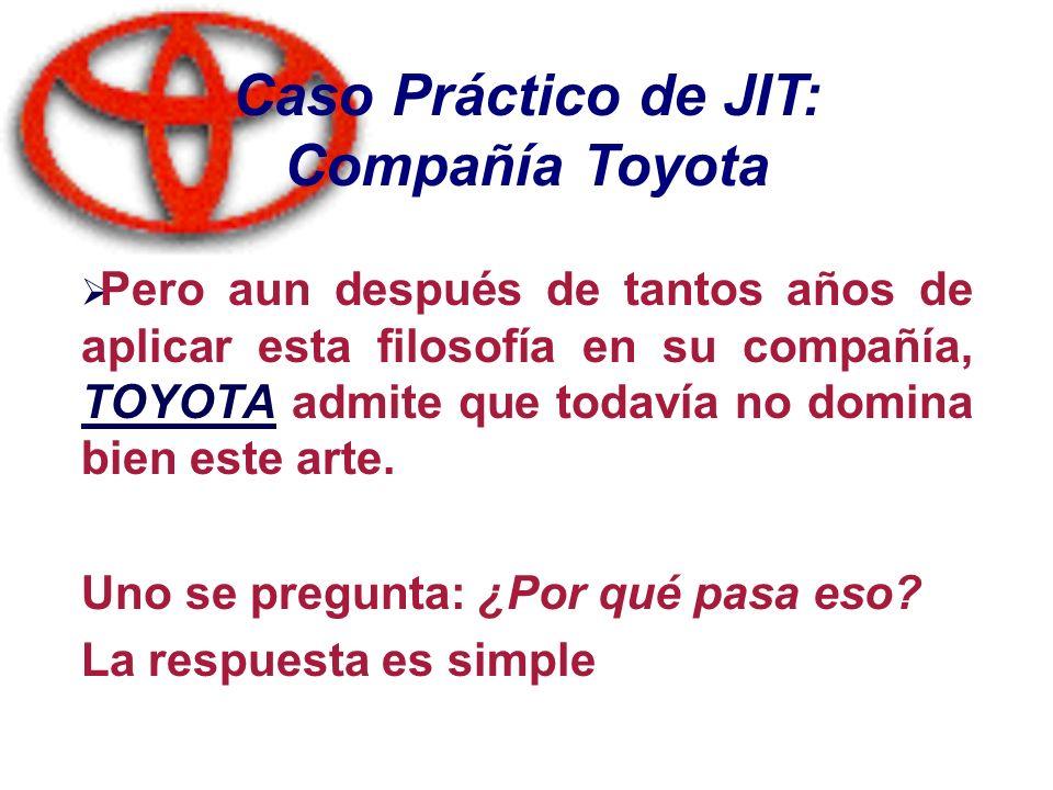 Caso Práctico de JIT: Compañía Toyota