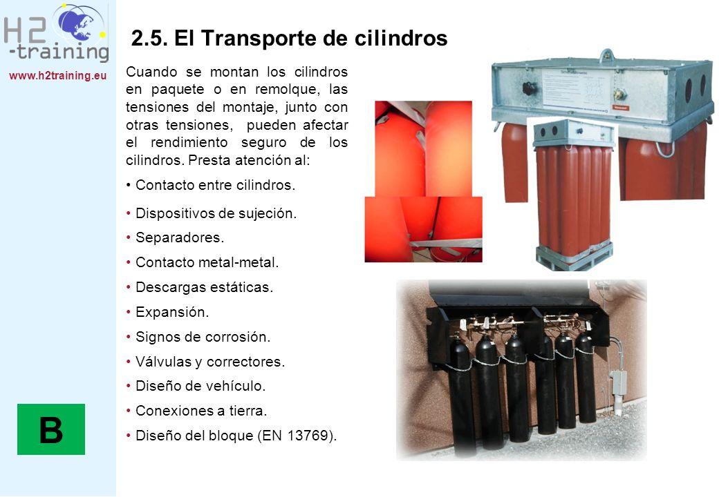 B 2.5. El Transporte de cilindros