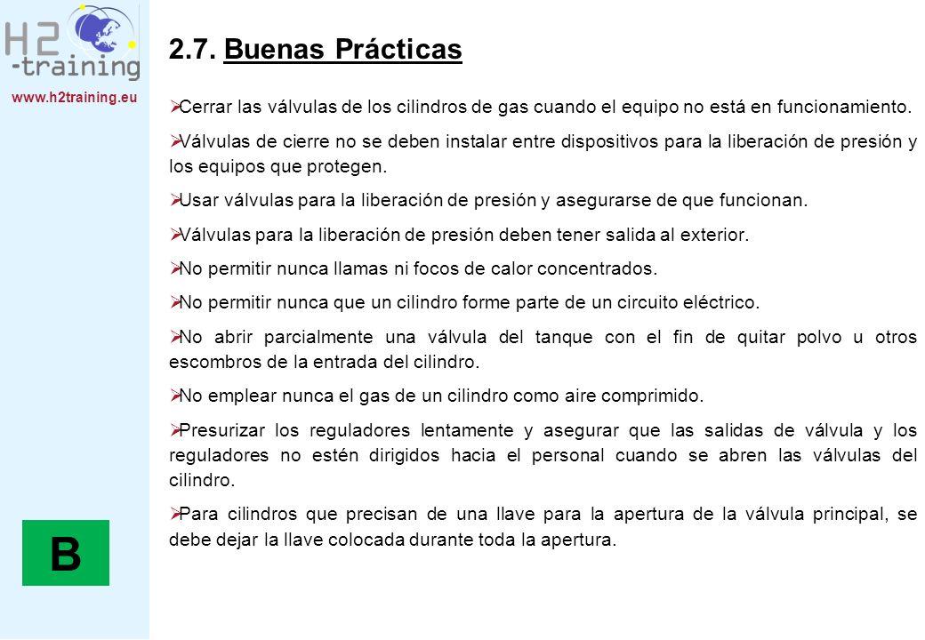 2.7. Buenas Prácticas Cerrar las válvulas de los cilindros de gas cuando el equipo no está en funcionamiento.