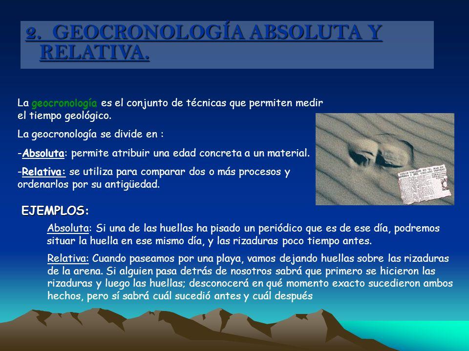 2. GEOCRONOLOGÍA ABSOLUTA Y RELATIVA.