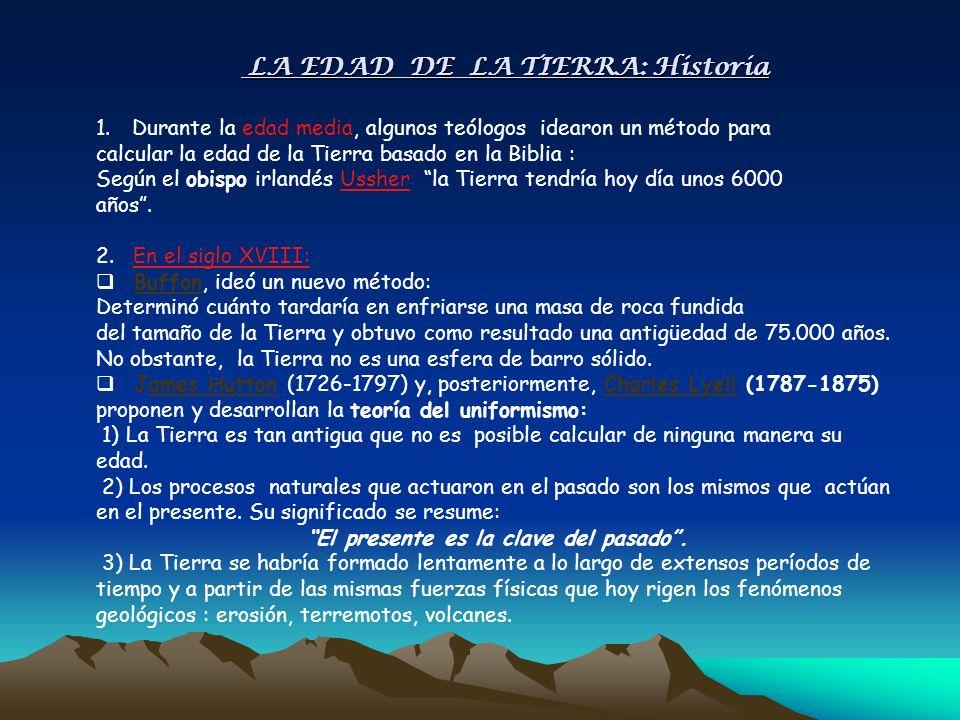 LA EDAD DE LA TIERRA: Historia