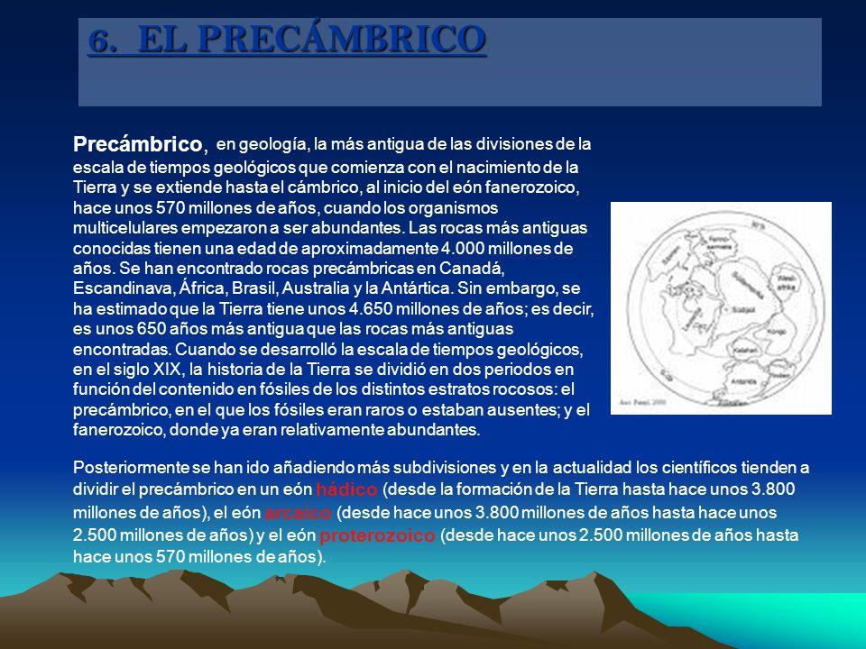 6. EL PRECÁMBRICO