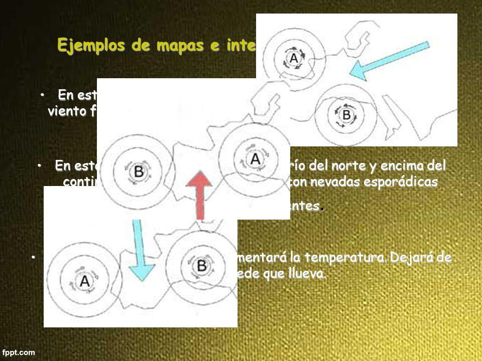 Ejemplos de mapas e interpretación en invierno