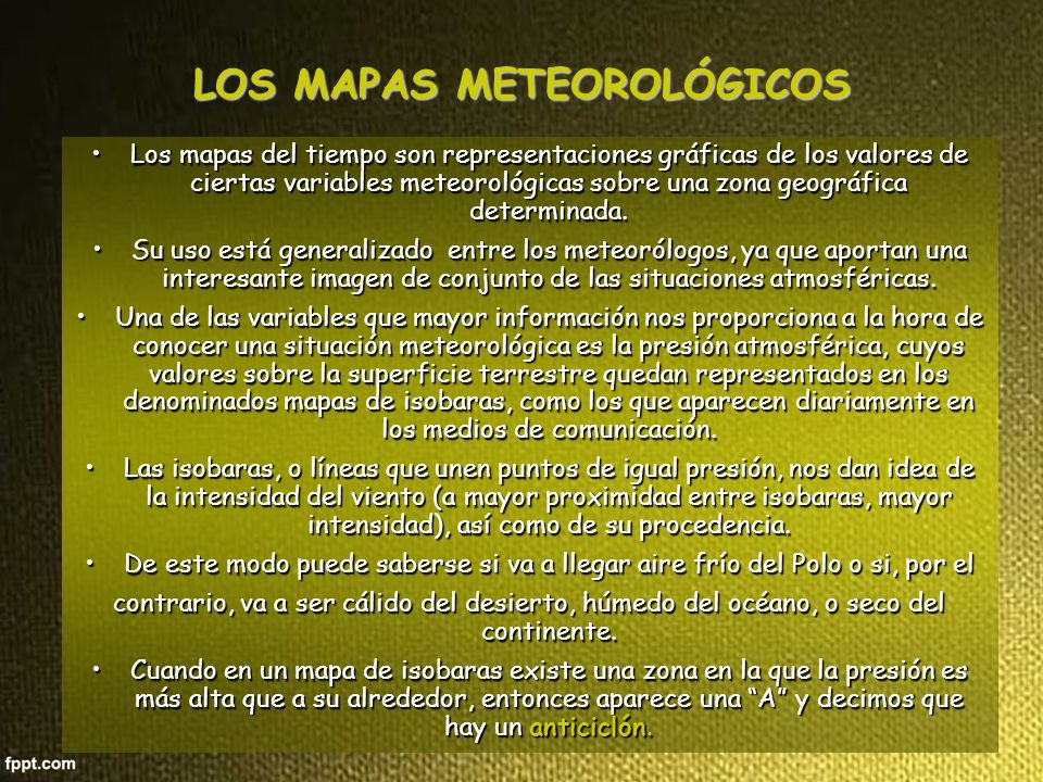 LOS MAPAS METEOROLÓGICOS