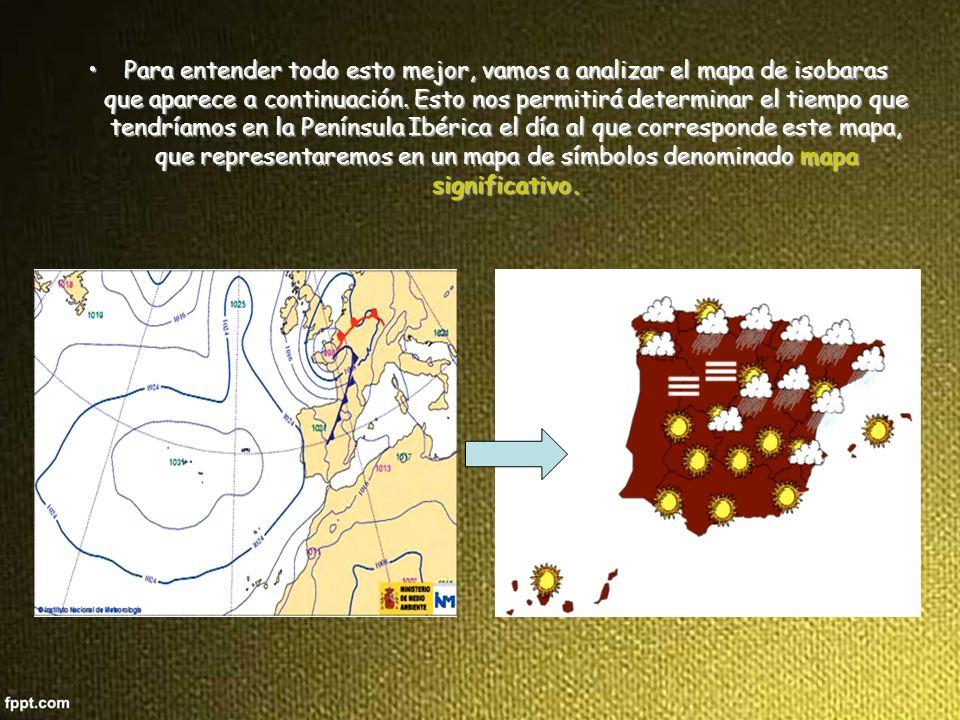 Para entender todo esto mejor, vamos a analizar el mapa de isobaras que aparece a continuación.