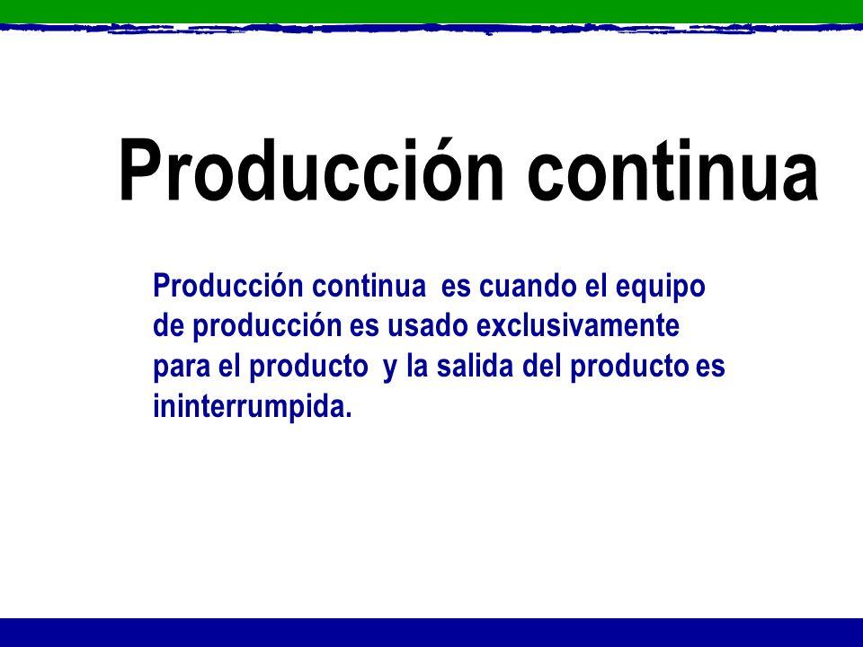 Producción continua