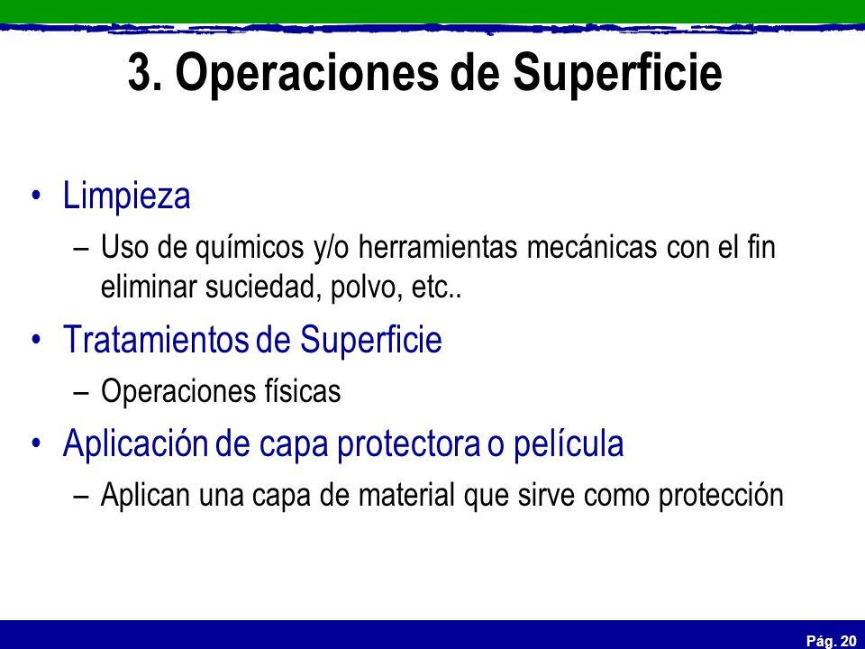 3. Operaciones de Superficie