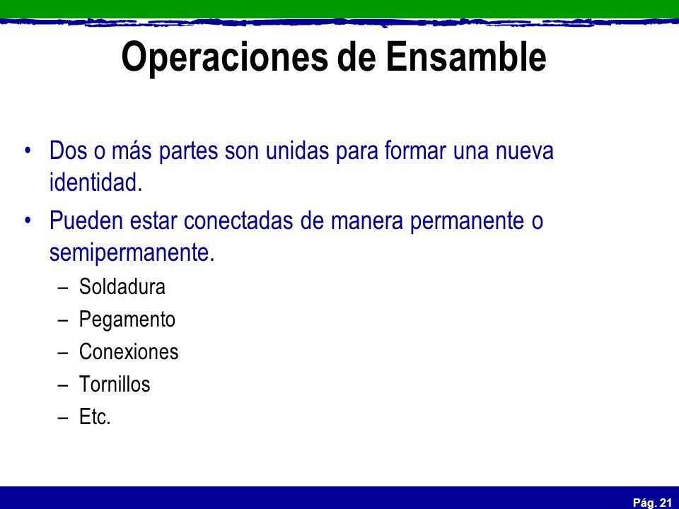 Operaciones de Ensamble