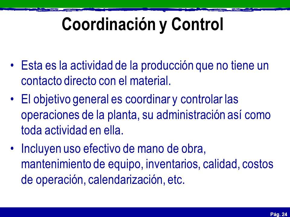 Coordinación y Control