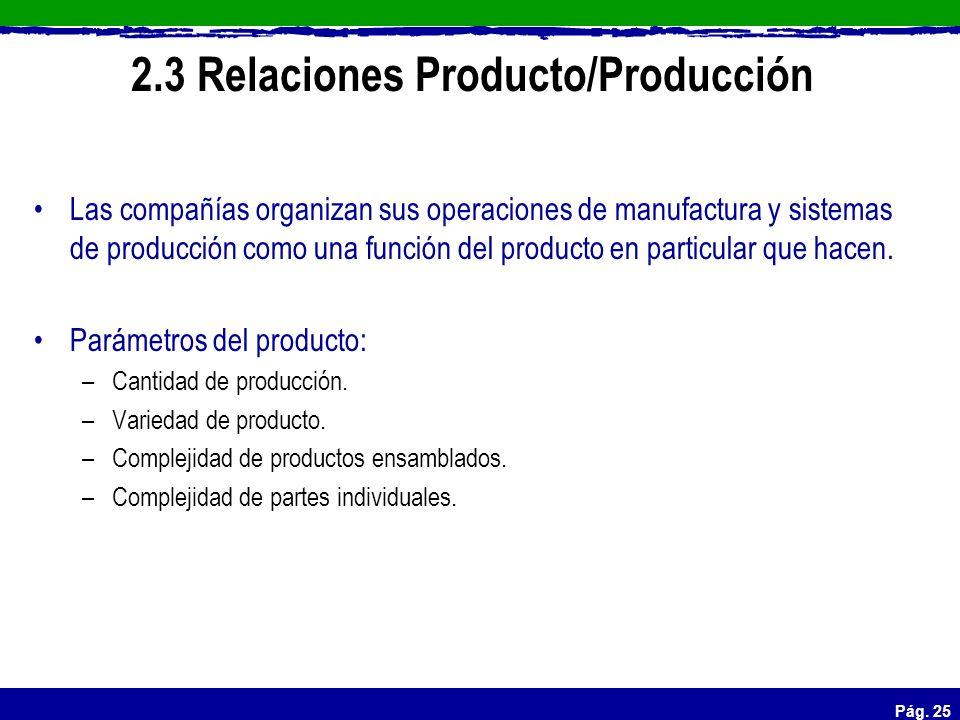 2.3 Relaciones Producto/Producción