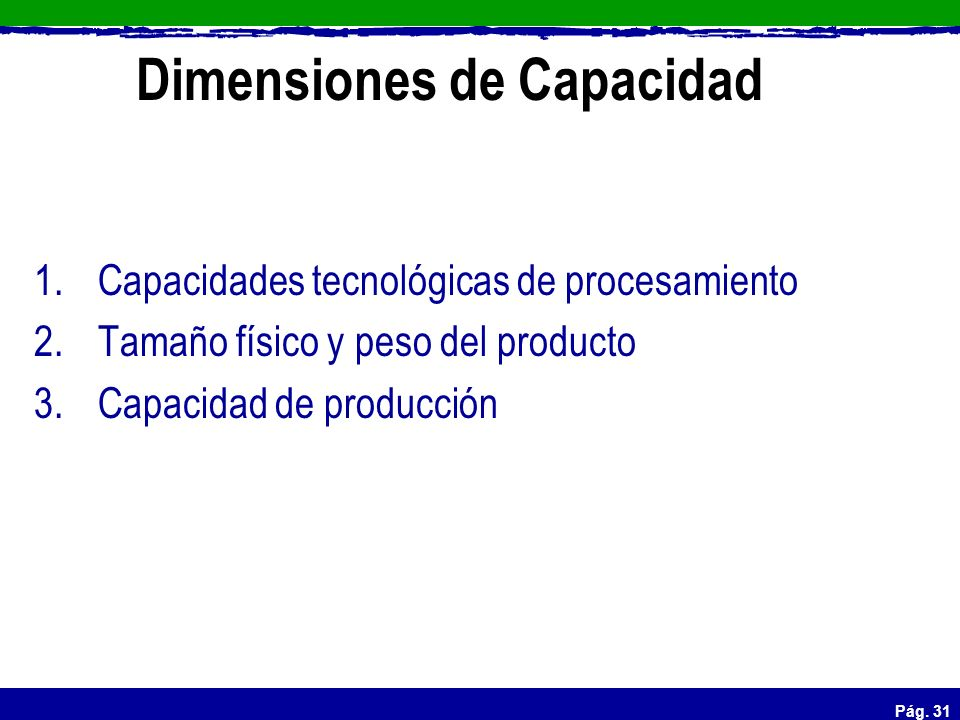Dimensiones de Capacidad