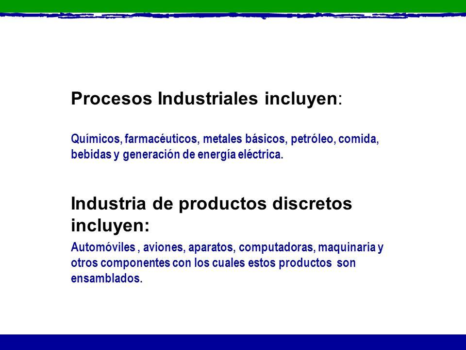 Procesos Industriales incluyen: