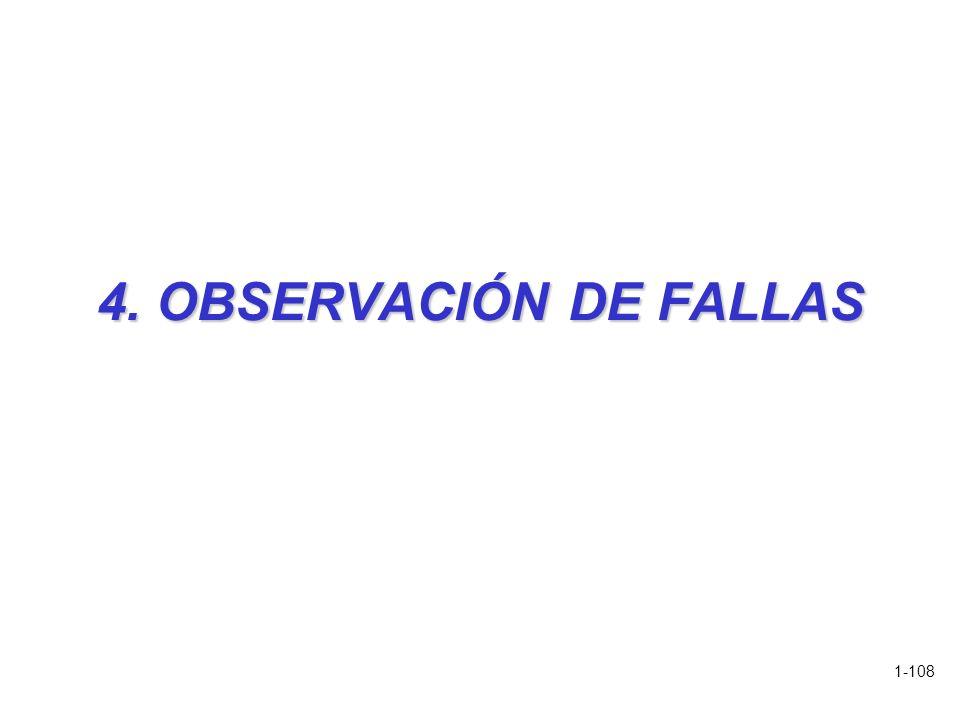 4. OBSERVACIÓN DE FALLAS