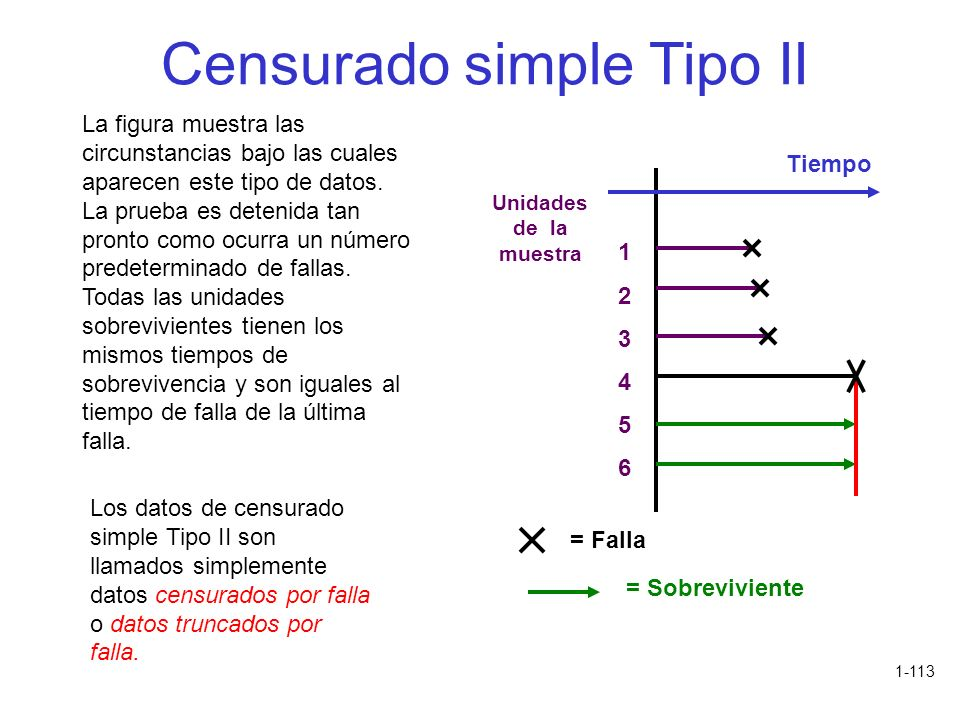 Censurado simple Tipo II