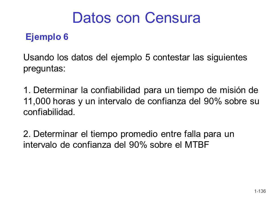 Datos con Censura Ejemplo 6