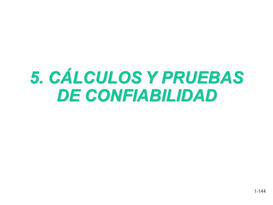 5. CÁLCULOS Y PRUEBAS DE CONFIABILIDAD