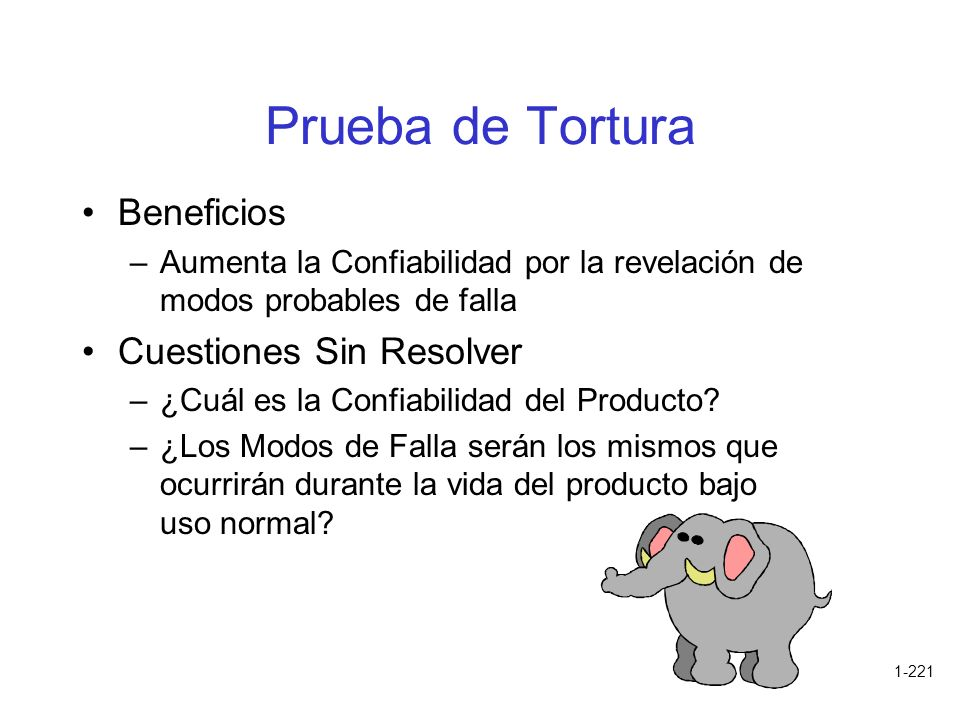 Prueba de Tortura Beneficios Cuestiones Sin Resolver