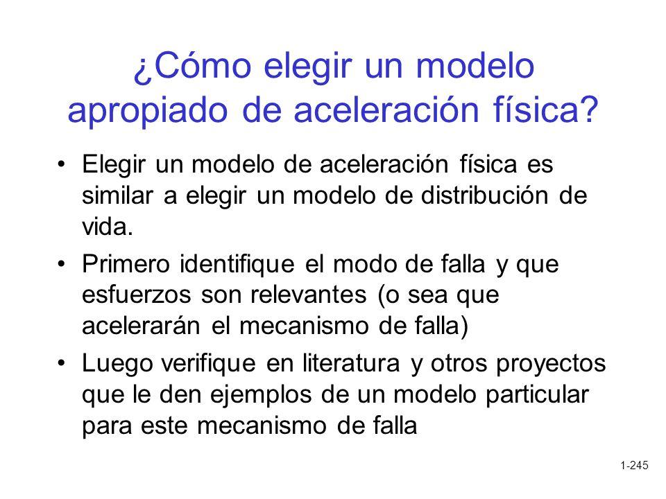 ¿Cómo elegir un modelo apropiado de aceleración física