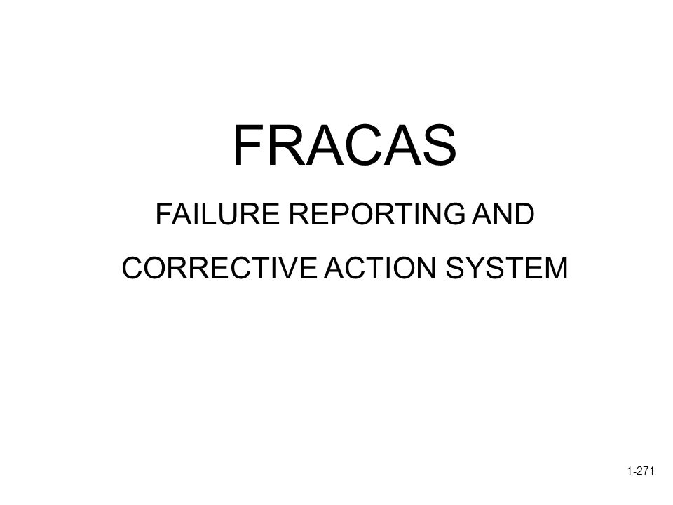 CORRECTIVE ACTION SYSTEM