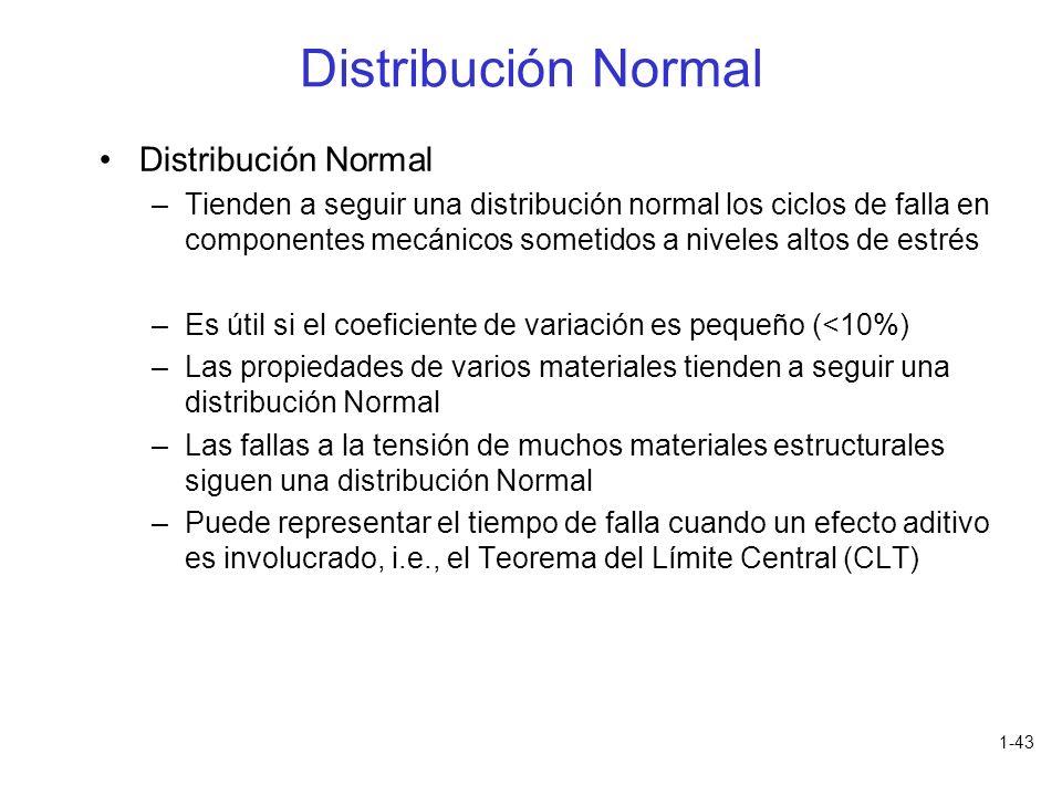 Distribución Normal Distribución Normal
