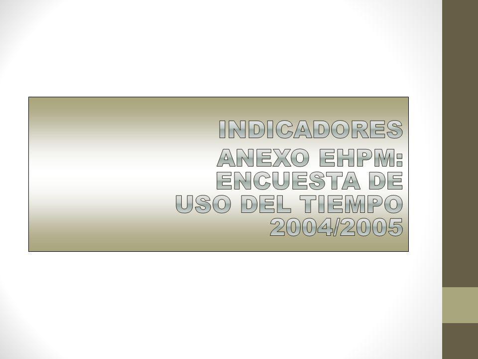 INDICADORES ANEXO EHPM: ENCUESTA DE USO DEL TIEMPO 2004/2005